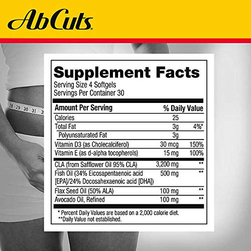 AbCuts Expect More Enhanced CLA Belly Fat Formula, 240 Softgels