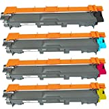 Brother Compatible High Capacity 4 PACK TN221 / TN225 TN221BK, TN221C, TN221M, TN221Y, TN225C, TN225M, TN225Y Black, Cyan, Magenta, Yellow Toner Cartridge Compatible with BROTHER HL-3140CW, HL-3170CDW, MFC-9130CW, MFC-9330CDW, MFC-9340CDW Color Laser Tone