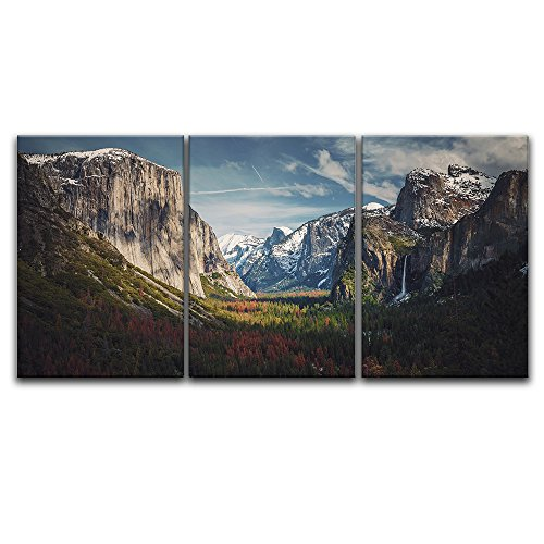 3 Panel Majestic Landscape with Mountains and Forest x 3 Panels