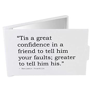 stamp press tis a great confidence in a friend to tell him your