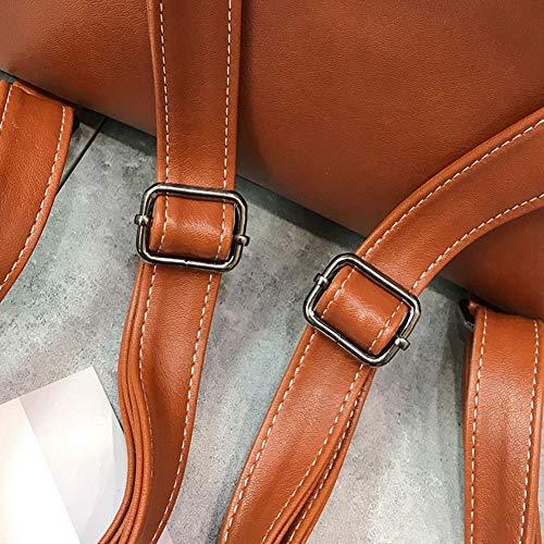 Qinjli Auricular 27 Viento Cm Mochila Moda Bolso Poco Cuero 10 Flecos A Retro 30 De Hombro Agujero Pu OzOwxarI
