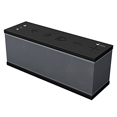 Blueotooth Speakers, Meidong QQChocolate Ultra Portable Wireless Bluetooth Speakers with HD Stereo Sound and Enhanced Bass, TF Card Support, Perfect Speaker for Beach, Kitchen & Home(Black) from Meidong