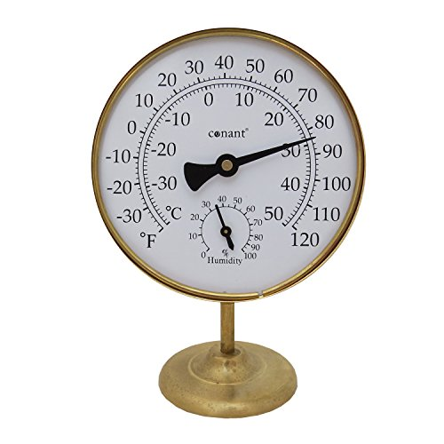 Conant TH20LFB Vermont Portable Weather Station with Living Brass (Vermont Dial Instruments)
