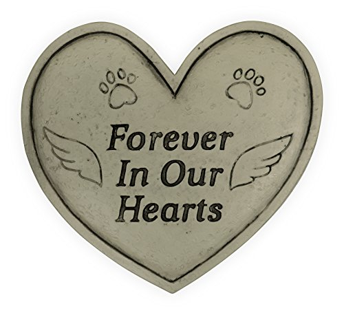 Angelstar Pet Memorial Garden Stone-Forever in Our Hearts, Light Brown