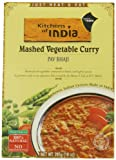 Kitchens of India Ready to Eat Dish, Mashed Vegtable Curry (Pav Bhaji), 10 Ounce (Pack of 6)