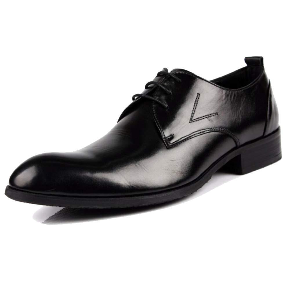 ZPEDY Männer, Lederschuhe, Spitze, Business, Niedrige Schuhe, Lässig, Spitze, Lederschuhe, Bequem, Tragbar schwarz 04b8e5