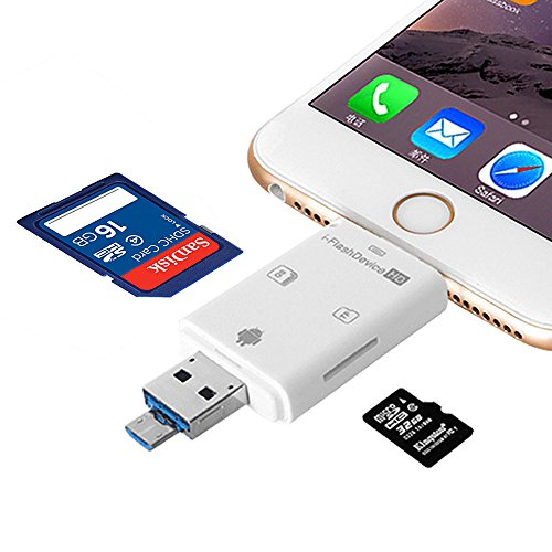SD/TF Micro Card Reader with iPhone/MAC/ PC/OTG Android/Computer