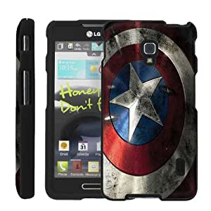 [ManiaHead] Design Hard Case Shell Cover Snap On Case (American Shield ) for LG Optimus F6 D500