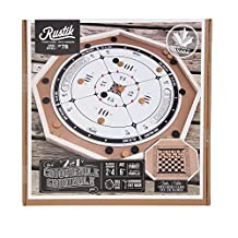 Crokinole & Checkers Wooden Game