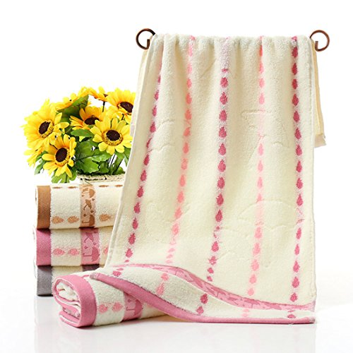 MooM 5pcs/lot Stripe Bath Towel Beach Towel for Adults Fast Drying Soft 3 Colors High Absorbent Home Travel Washing Accessories
