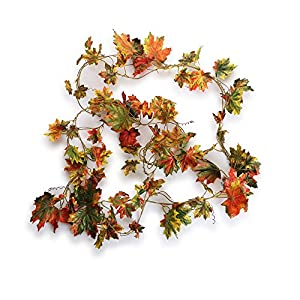 Greentime Artificial Silk Ivy Vine Hanging Wreath Foliage Leaves Plants Garland for Indoor Outdoor Wall Decoration 80