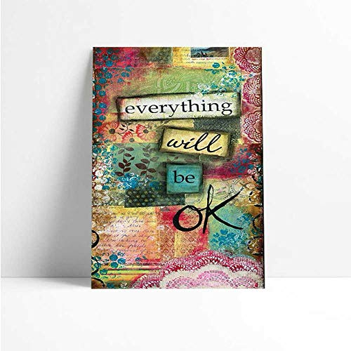 Quadro Decorativo - Everything will be ok. - Quadro 20x30