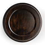 ChargeIt by Jay The Jay Companies Beaded Charger Plate, Brown