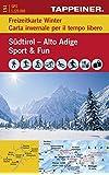 Freizeitführer Südtirol - Sport & Spaß im Winter (Freizeitkarten mit Führer) (Freizeitkarten mit Führer / Carta per il tempo libero con guide)