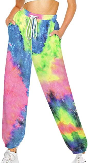 Pantalones de chándal Tie-Dye para Mujer Pantalones Harem ...