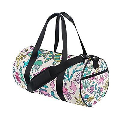 Flight Bag Gym Bag Horse Pattern with Symbol of Year InterestPrint Large Duffel Bag