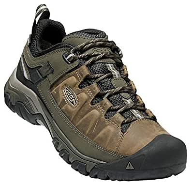 KEEN - Men's Targhee III Waterproof Leather Hiking Shoe, Wide, Bungee Cord/Black, 8.5W US