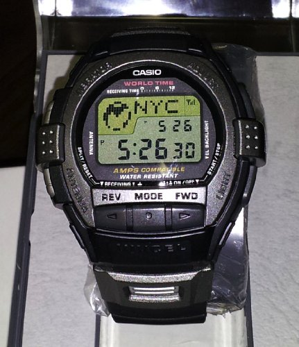 Casio Rare Vintage Cell Phone Vibration World time Alarm VIVCEL Watch VCL120-1 (Watches Rare Vintage)