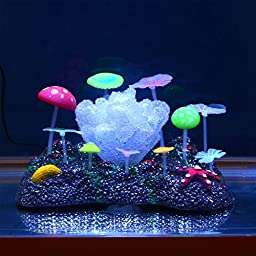 Saim Glow in the Dark Artificial Coral for Fish Tank Decorative Aquarium Ornament