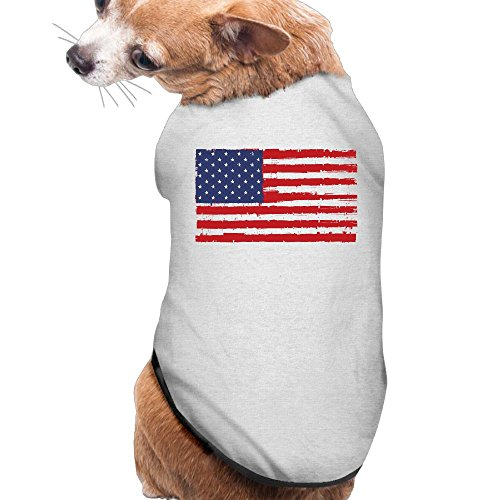 BESINEAWSfAW Distressed USA Flag Dog&Cat Shirt Tank Top Vest Pet Clothing For Dogs Or Cats Costume (Pug In A Batman Costume)