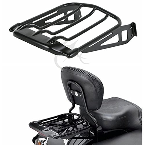 Air Wing Carrier (TCMT Air Wing Two Up Luggage Rack For Harley FXST FXSTB FXSTS 06-15 Replace 50300009)
