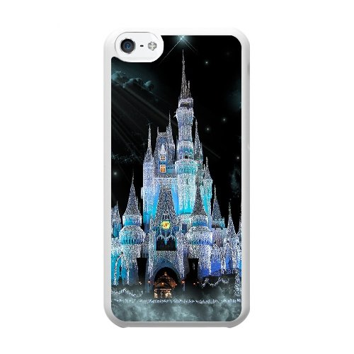 Coque,Coque iphone 5C Case Coque, Disney World Cinderella Castle Cover For Coque iphone 5C Cell Phone Case Cover blanc