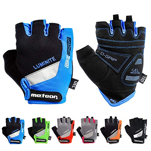 meteor Fietshandschoenen Halve Vinger Handschoenen – Halve Vingers voor Dames en Heren en Jeugd – Sporthandschoenen Gel…