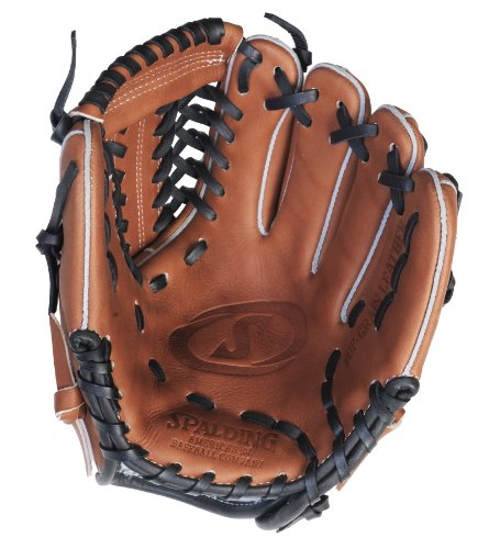 (Spalding True to the Game Series Modified Trap Web 11-inch Fielding Glove - Right-Handed Thrower (42-060) )