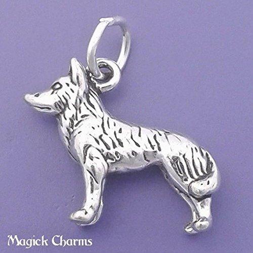 Sterling Silver 3-D HUSKY Alaska Sled Dog Charm Pendant - lp2317 Jewelry Making Supply Pendant Bracelet DIY Crafting by Wholesale Charms