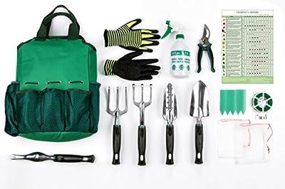 13 Piece Garden Tools Set,Gardening Tools Kit, Hand Tools Set Gardening Gift for the Gardener by AYUBOOM
