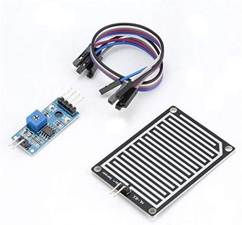 5V LED Capteur De Pluie Gouttes De Pluie Eau De D/étection Humidit/é Humidit/é Module Module pour Arduino M/ét/éo D/étecteur Moniteur avec C/âble