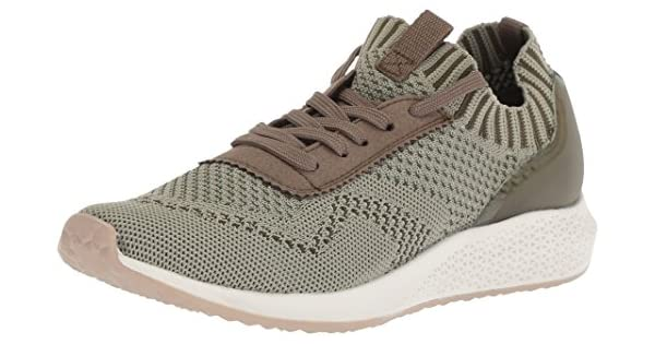 Tamaris Women's Tavia 23714 Sneaker, Olive, 38 Medium EU