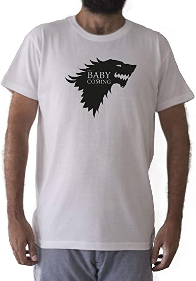 GAMBA TARONJA Baby IS Coming - Camiseta - Winter IS Coming - Juego de Tronos - Game of Thrones: Amazon.es: Ropa y accesorios