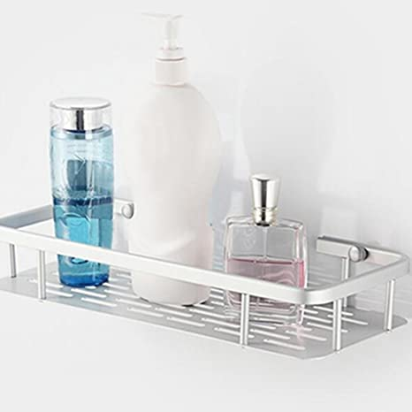 Bathroom Fixtures Aluminium Storage Rack Bathroom Shower Bath Holder For Shampoos Shower Gel Kitchen Home Balcony Shelf Hanging Rack Hook Bathroom Hardware