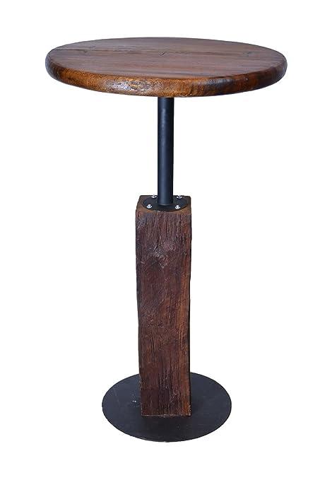 Delicieux Groovsytuff Rustic 42u0026quot; High Pub Bar Table Made Of Authentic Reclaimed  Teak Wood I