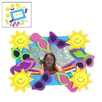 Amazon.com: Foam Summer Fun Photo Frame Magnet Craft Kits (1 dz ...