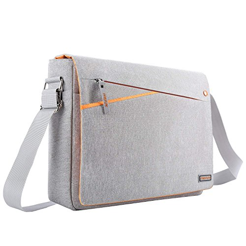 Gray and Orange MOSISO Messenger Laptop Shoulder Bag Compatible with 13-13.3 Inch MacBook Pro Retina//Air//Surface Laptop 2017//Surface Book 2//1 Protective Carrying Case with Two Side Pockets