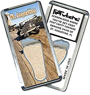 """product image for St. Augustine """"FootWhere"""" Fridge Magnet. Made in USA (StA206 - Guardian)"""