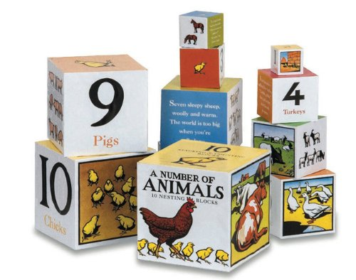 A Number of Animals Nesting Blocks