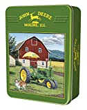 MasterPieces John Deere My Two Best Friends - Model A Tractor 1000 Piece Tin Box Jigsaw Puzzle by Neal Anderson