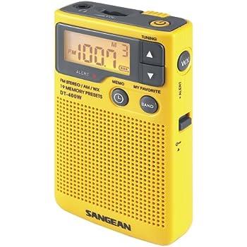 Sangean DT-400W AM/FM Digital Weather Alert Pocket Radio