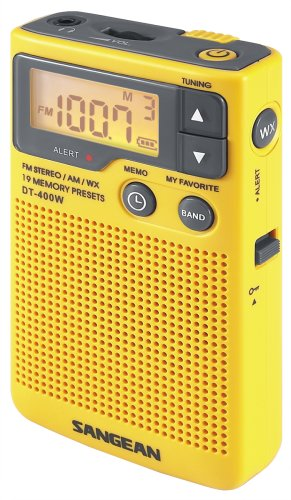 Sangean DT-400W AM/FM Digital Weather Alert Pocket - Portable Am Fm Digital Radio
