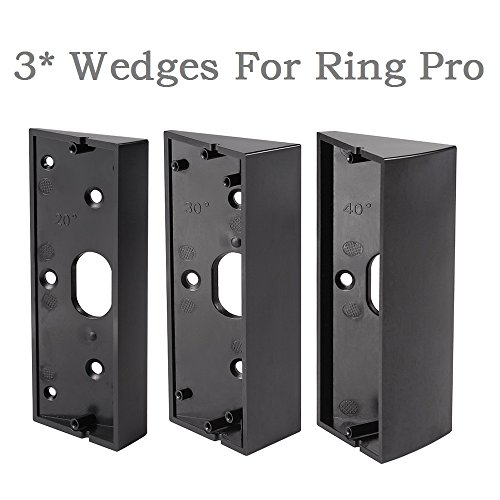 3x Adjustable(20 to 50 Degree) Ring Doorbell Pro Adapter Mounting Wedge Kit Ring Video Doorbell Pro Corner Kit Angle Adjustment (2 Door Expansion Kit)
