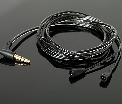 Replacement Upgrade Audio Cable Cord for Sennheiser IE8, IE80, IE8i Earphone Black