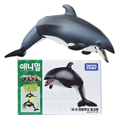 Takara Tomy ANIA AS-19 ANIMAL Pacific White-sided Dolphin Mini Action Figure Toy