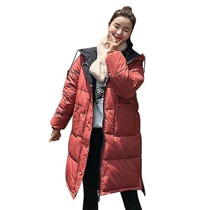 HhGold Abrigo de Invierno Abrigo de Damas, Moda para Mujer Invierno Cálido Manga Larga Abrigo