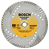 Bosch DB763 Premium Plus 7-Inch Dry or Wet Cutting Turbo Continuous Rim Diamond Saw Blade with 5/8-Inch Knockout Arbor for Masonry