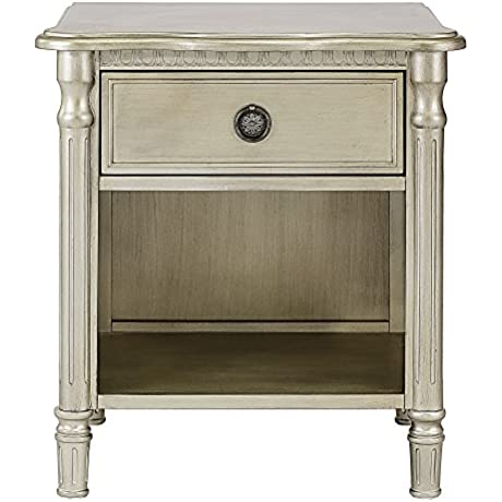 Evolur Julienne Night Stand Antique Bronze