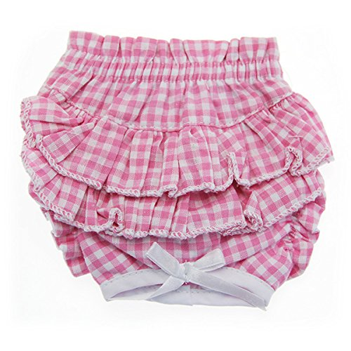 ry Pants For Dogs - Pink Gingham (LG (REAR GIRTH 17