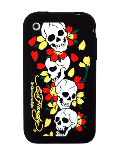 Ed Hardy Silicone Skulls Skin for iPhone 3G - Black